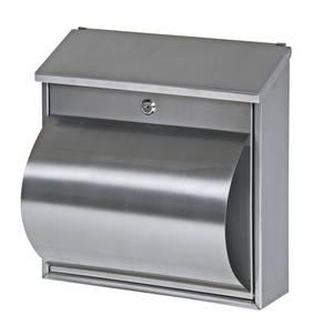 briefk sten baufachhandel streich bk 800 edelstahl briefkasten mit integrierter zeitungsrolle. Black Bedroom Furniture Sets. Home Design Ideas