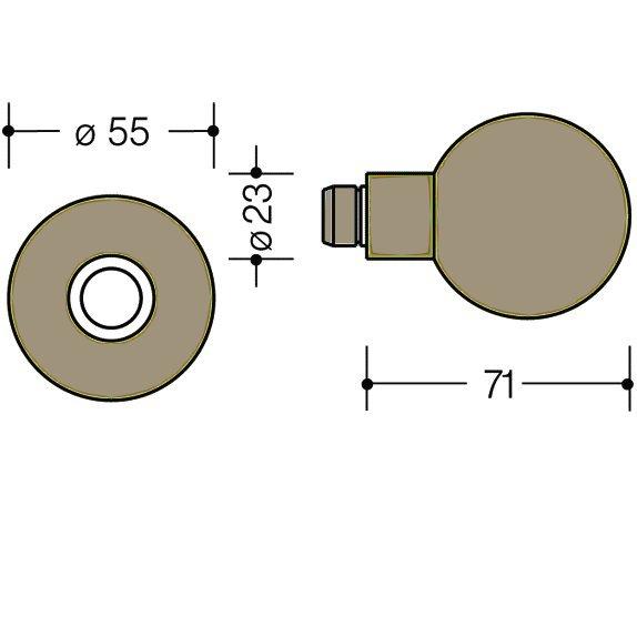HEWI 111K.33 Knopf feststehend 123.23/305.23 86 sand