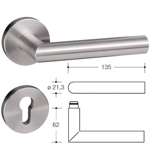 HEWI Edelstahl Türdrücker System 162, Baufachhandel Streich