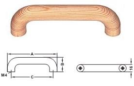 Möbelgriff Holz, <b>Kiefer natur</b>