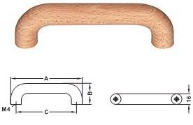 Möbelgriff Holz, <b>Buche natur</b>