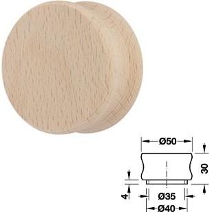 Holz Möbelknopf HE196.98 <b>Buche hell natur</b> 50x30 mm