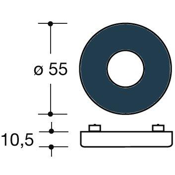 Polyamid stahlblau HEWI Drückerrosetten innen 305.23R