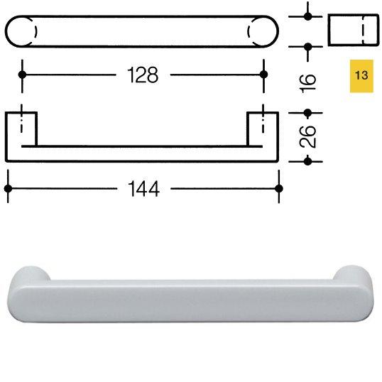 HEWI 548.17.128 13 Möbelgriff für BA3 a=128mm ø16mm rapsgelb