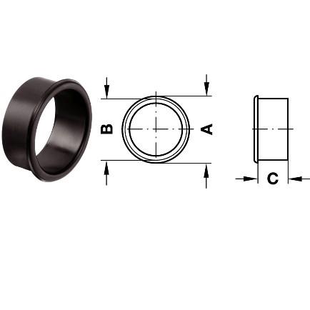 schwarze Lüftungsringe aus Kunststoff 29/25/20 mm
