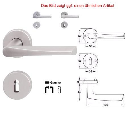 Jado Reguitti Golf 478/341/100/040 BB Rosettengarnitur Zamak verchr/matt