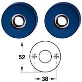 Hewi Drückerrosetten Modell 305.23R <b>50 stahlblau</b>
