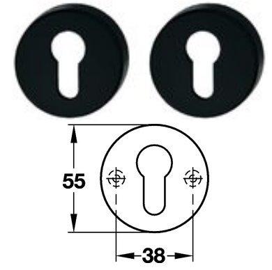 Hewi 306.23 Paar PZ Schlüsselrosette 92 anthrazitgrau