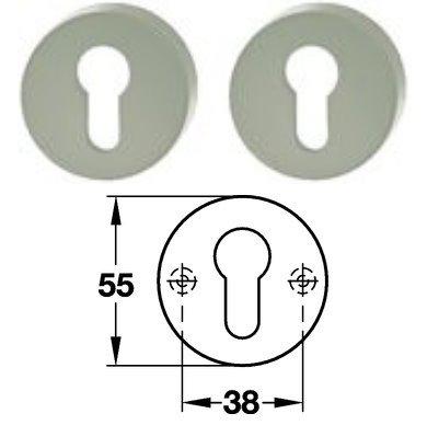 Hewi 306.23 Paar PZ Schlüsselrosette 95 felsgrau