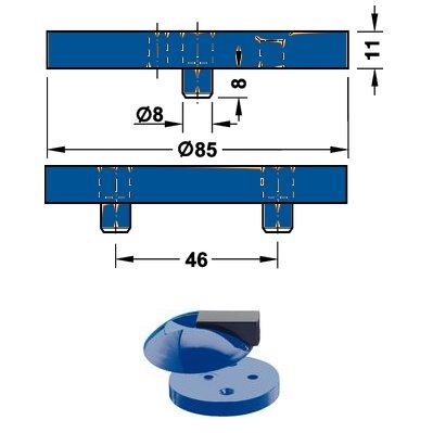 <b>Fußplatte</b> HEWI 625.1 für Boden Türpuffer Hewi <b>625 53 ultramarinblau</b>