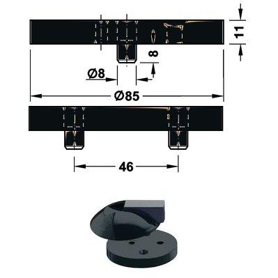 <b>Fußplatte</b> HEWI 625.1 für Boden Türpuffer Hewi <b>625 92 anthrazitgrau </b>