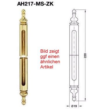 Anuba Zierhülse AH217 MS ZK Messing für Türbänder Ø 17 mm, Messing poliert
