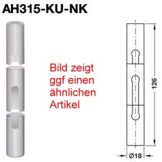 Anuba Zierhülsen AH315 KU NK Kunststoff für Türbänder Ø 15 mm, RAL 9016 verkehrsweiß