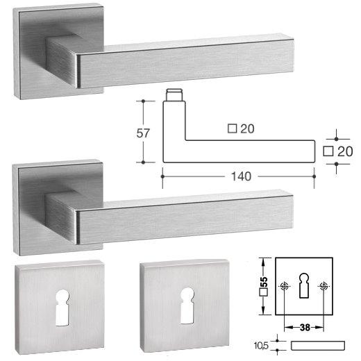 hewi 100xab01 1a0 edelstahl zimmert rgarnituren. Black Bedroom Furniture Sets. Home Design Ideas
