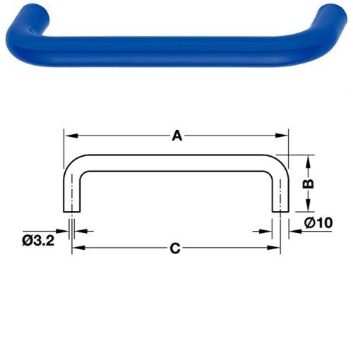 HEWI Möbelgriff 548.106.50 ø 10 mm für BA3 stahlblau