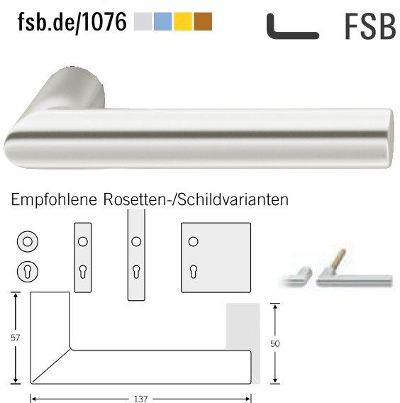 FSB 10 1076 00000 105 Türdrückerpaar 8 mm Aluminium