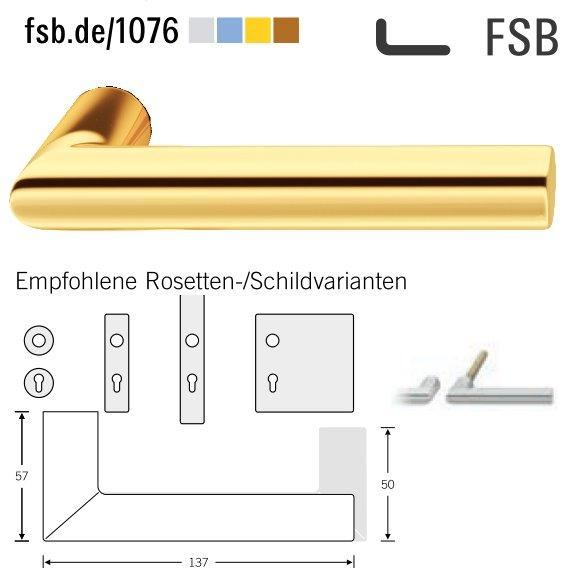 FSB 10 1076 00000 4305 Türdrückerpaar 8 mm Messing