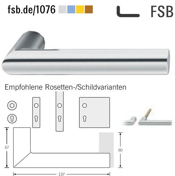 FSB 10 1076 00000 6204 Türdrückerpaar 8 mm Edelstahl matt