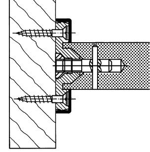 Hewi Befestigungsset BA1.30PA-90 tiefschwarz ø 30 mm