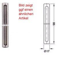 SFS intec Zierhülse Kunststoff für 2 tlg. Türbänder Ø 15 mm, RAL 9010 reinweiß