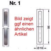 Simonswerk Zierhülse Nr: 1 Kunststoff für Türbänder Ø 15 mm, verchromt poliert