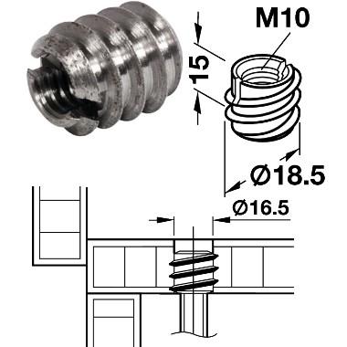 Eindrehmuffe M10/18,5x15mm